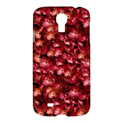 Warm Floral Collage Print Samsung Galaxy S4 I9500/i9505 Hardshell Case by dflcprints