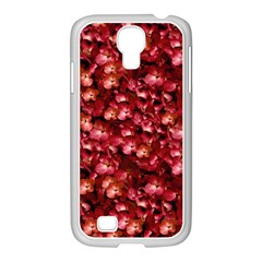Warm Floral Collage Print Samsung Galaxy S4 I9500/ I9505 Case (white) by dflcprints