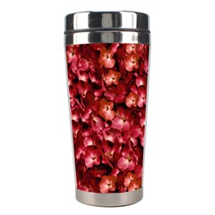 Warm Floral Collage Print Stainless Steel Travel Tumbler by dflcprints