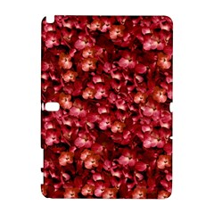Warm Floral Collage Print Samsung Galaxy Note 10 1 (p600) Hardshell Case by dflcprints