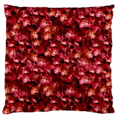 Warm Floral Collage Print Standard Flano Cushion Case (two Sides) by dflcprints