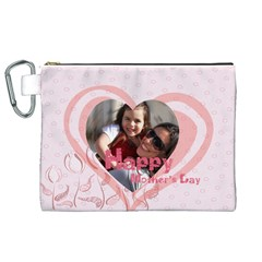 Mothers Day By Mom   Canvas Cosmetic Bag (xl)   9k1q3t8ten2r   Www Artscow Com Front