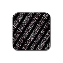 Organic Texture Stripe Pattern Drink Coasters 4 Pack (square) by dflcprints