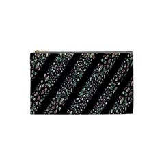 Organic Texture Stripe Pattern Cosmetic Bag (small) by dflcprints