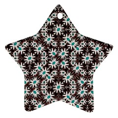 Modern Floral Geometric Pattern Star Ornament by dflcprints