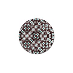 Modern Floral Geometric Pattern Golf Ball Marker by dflcprints