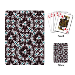 Modern Floral Geometric Pattern Playing Cards Single Design by dflcprints