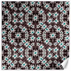 Modern Floral Geometric Pattern Canvas 12  X 12  (unframed) by dflcprints