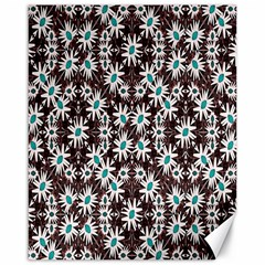 Modern Floral Geometric Pattern Canvas 16  X 20  (unframed)