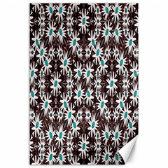 Modern Floral Geometric Pattern Canvas 24  X 36  (unframed) by dflcprints