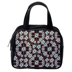 Modern Floral Geometric Pattern Classic Handbag (one Side) by dflcprints