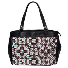 Modern Floral Geometric Pattern Oversize Office Handbag (two Sides) by dflcprints