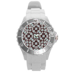 Modern Floral Geometric Pattern Plastic Sport Watch (large) by dflcprints