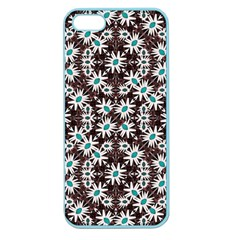 Modern Floral Geometric Pattern Apple Seamless Iphone 5 Case (color) by dflcprints