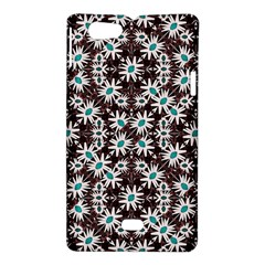 Modern Floral Geometric Pattern Sony Xperia Miro Hardshell Case  by dflcprints