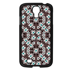 Modern Floral Geometric Pattern Samsung Galaxy S4 I9500/ I9505 Case (black) by dflcprints