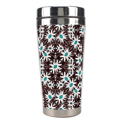 Modern Floral Geometric Pattern Stainless Steel Travel Tumbler by dflcprints