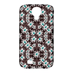 Modern Floral Geometric Pattern Samsung Galaxy S4 Classic Hardshell Case (pc+silicone) by dflcprints