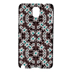 Modern Floral Geometric Pattern Samsung Galaxy Note 3 N9005 Hardshell Case by dflcprints