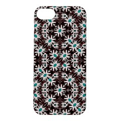 Modern Floral Geometric Pattern Apple Iphone 5s Hardshell Case by dflcprints