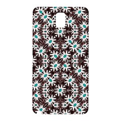Modern Floral Geometric Pattern Samsung Galaxy Note 3 N9005 Hardshell Back Case by dflcprints