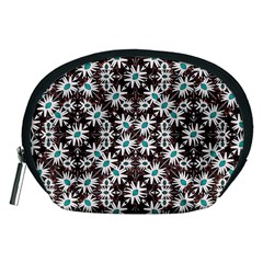 Modern Floral Geometric Pattern Accessory Pouch (medium) by dflcprints