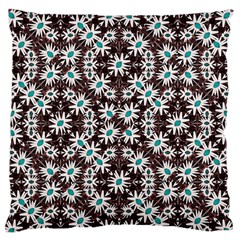 Modern Floral Geometric Pattern Standard Flano Cushion Case (one Side) by dflcprints
