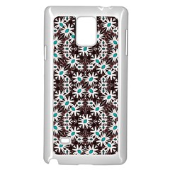 Modern Floral Geometric Pattern Samsung Galaxy Note 4 Case (white) by dflcprints