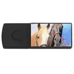 Miwok Horses 2GB USB Flash Drive (Rectangle) by JulianneOsoske