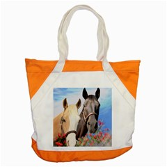Miwok Horses Accent Tote Bag by JulianneOsoske