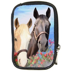 Miwok Horses Compact Camera Leather Case by JulianneOsoske