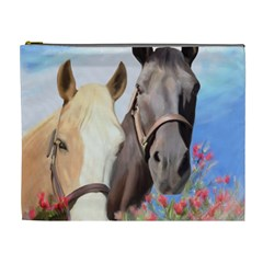Miwok Horses Cosmetic Bag (xl) by JulianneOsoske