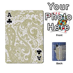 Ace Family Cruise Cards By Michelle s Cakes   Playing Cards 54 Designs   Uavzci7b7yy5   Www Artscow Com Front - ClubA