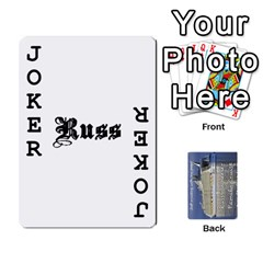 Family Cruise Cards By Michelle s Cakes   Playing Cards 54 Designs   Uavzci7b7yy5   Www Artscow Com Front - Joker1