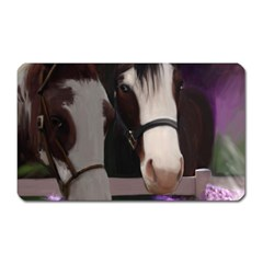 Two Horses Magnet (rectangular) by JulianneOsoske