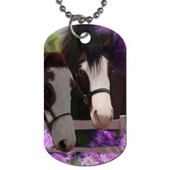 Two Horses Dog Tag (one Sided) by JulianneOsoske