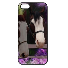 Two Horses Apple Iphone 5 Seamless Case (black) by JulianneOsoske