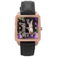 Two Horses Rose Gold Leather Watch  by JulianneOsoske
