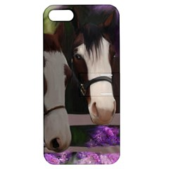 Two Horses Apple Iphone 5 Hardshell Case With Stand by JulianneOsoske