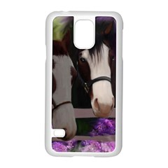 Two Horses Samsung Galaxy S5 Case (white) by JulianneOsoske
