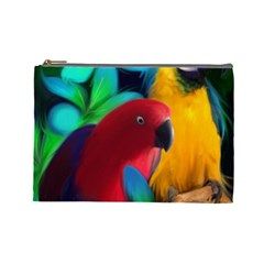 Two Friends Cosmetic Bag (large) by JulianneOsoskeFeathers