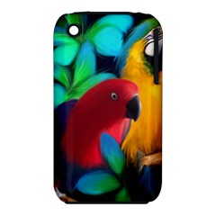 Two Friends Apple Iphone 3g/3gs Hardshell Case (pc+silicone) by JulianneOsoskeFeathers