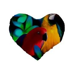 Two Friends Standard 16  Premium Heart Shape Cushion  by JulianneOsoskeFeathers
