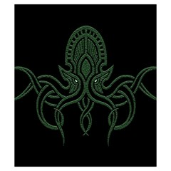 Cthulhu Small By Dean   Drawstring Pouch (small)   Vzxza2yqrrk2   Www Artscow Com Front