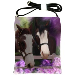 Two Horses Shoulder Sling Bag by JulianneOsoske