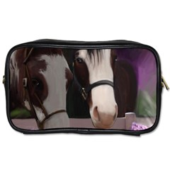 Two Horses Travel Toiletry Bag (two Sides) by JulianneOsoske