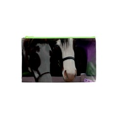 Two Horses Cosmetic Bag (xs) by JulianneOsoske