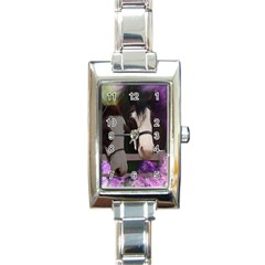 Two Horses Rectangular Italian Charm Watch by JulianneOsoske