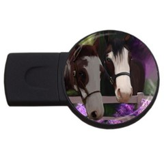 Two Horses 2gb Usb Flash Drive (round) by JulianneOsoske