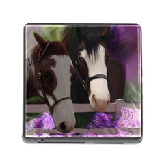 Two Horses Memory Card Reader With Storage (square) by JulianneOsoske